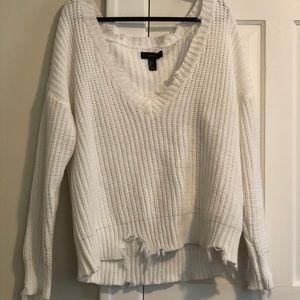Raw Edge Knit Sweater